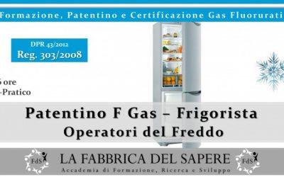Corso Per Patentino e Certificazione FGAS Frigoristi / Idraulici