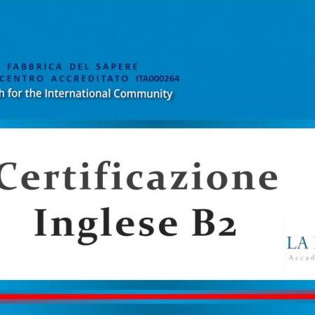 Certificazione Lingua INGLESE