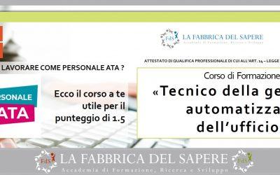 Tecnico per la gestione automatizzata dell'ufficio