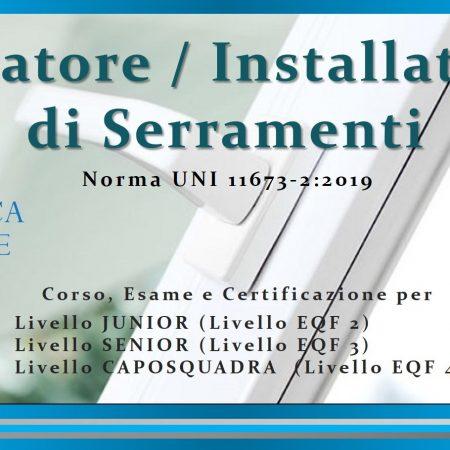 Posatori Serramenti UNI 11673-2:2019